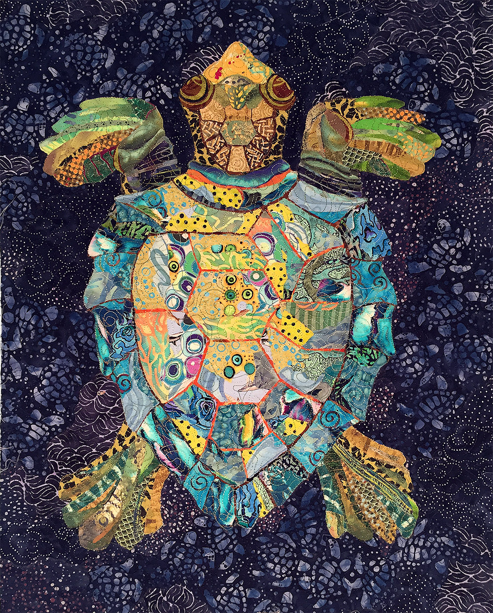 serendipitous sea turtle pattern susan carlson quilts