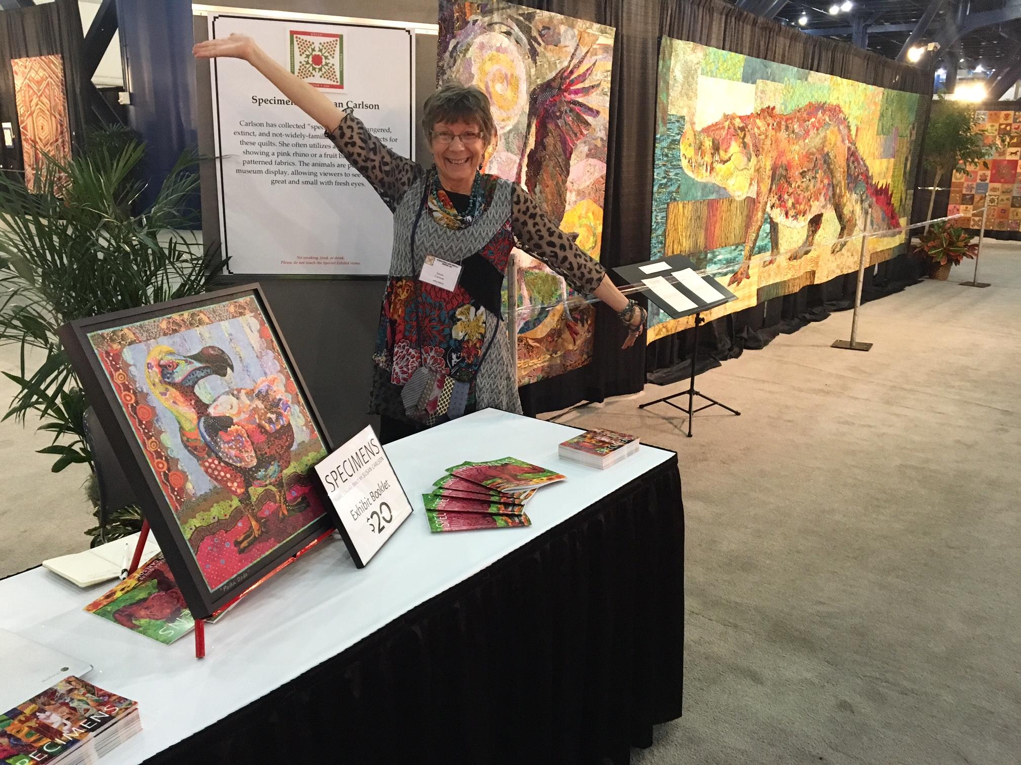 Specimens at the International Quilt Festival