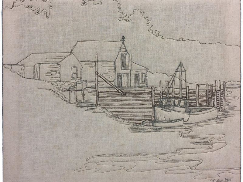 Quilt Stories: Thread Drawing